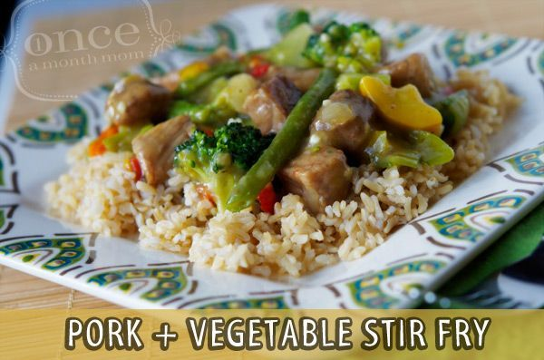 Pork and Vegetable Stir Fry - lunch #freezercooking #diet #diet #workout #fitness #weightloss #loseweight
