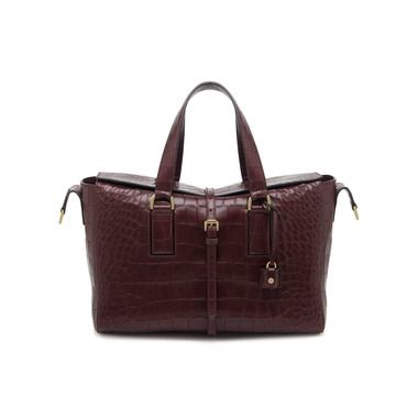 59aec4bf575 Mulberry - Roxette in Oxblood Deep Embossed Croc Print | Style ...