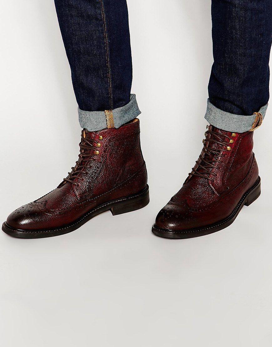 Buy Men Shoes / Aldo Larewiel Leather Brogue Boots