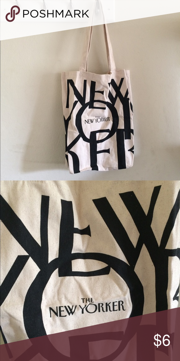 The New Yorker Magazine Classic Logo Tote Bag Brand 100 Cotton Canvas Like Material Bags Totes