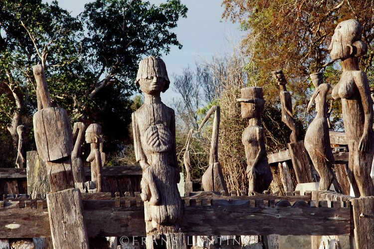 Sakalava funeral sculpture near Morondava, Madagascar