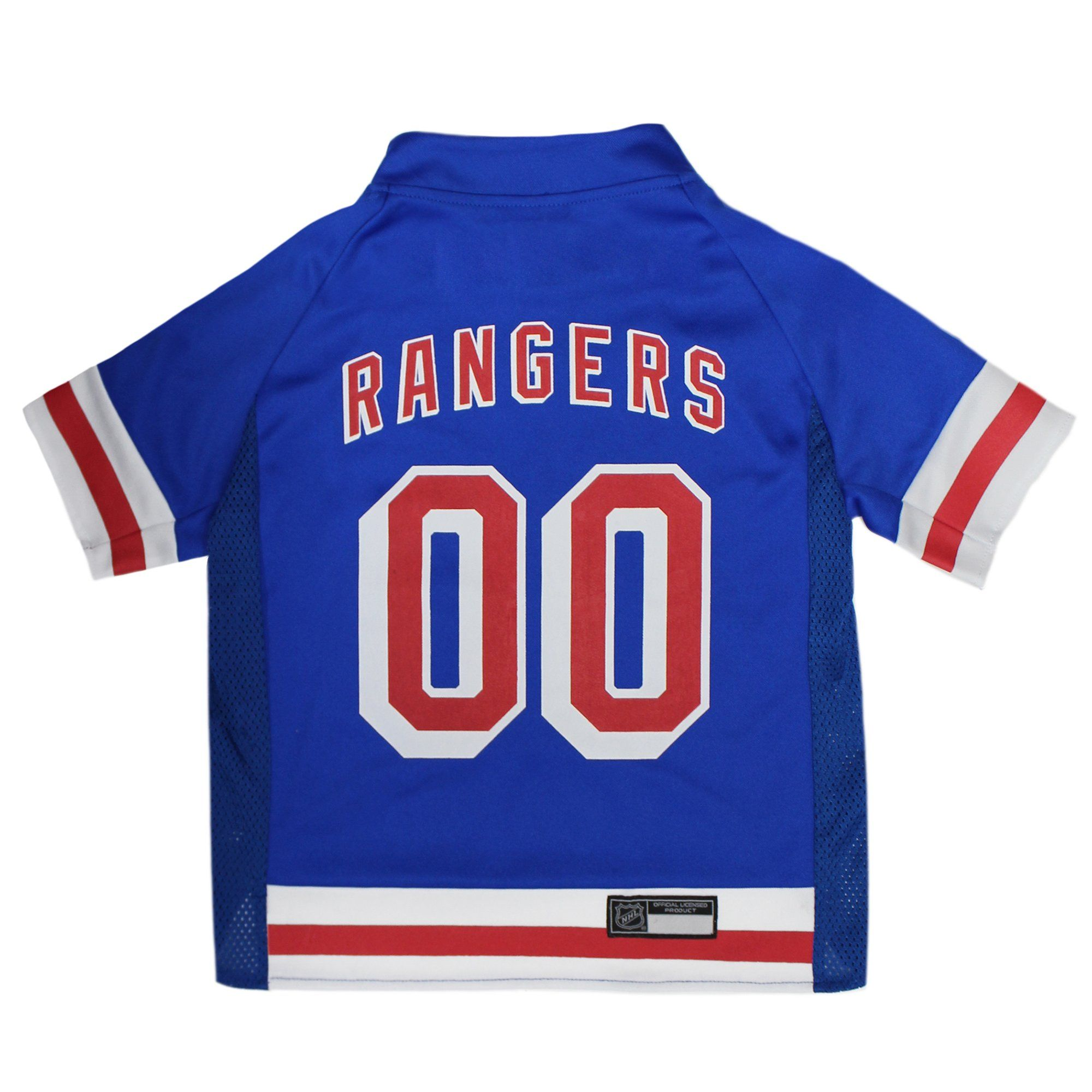 Pets First New York Rangers Dog Jersey, Large, Assorted