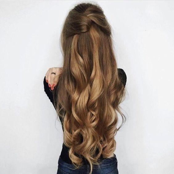 Inspiração Penteados Simples Para Cabelos Longos Cabelo
