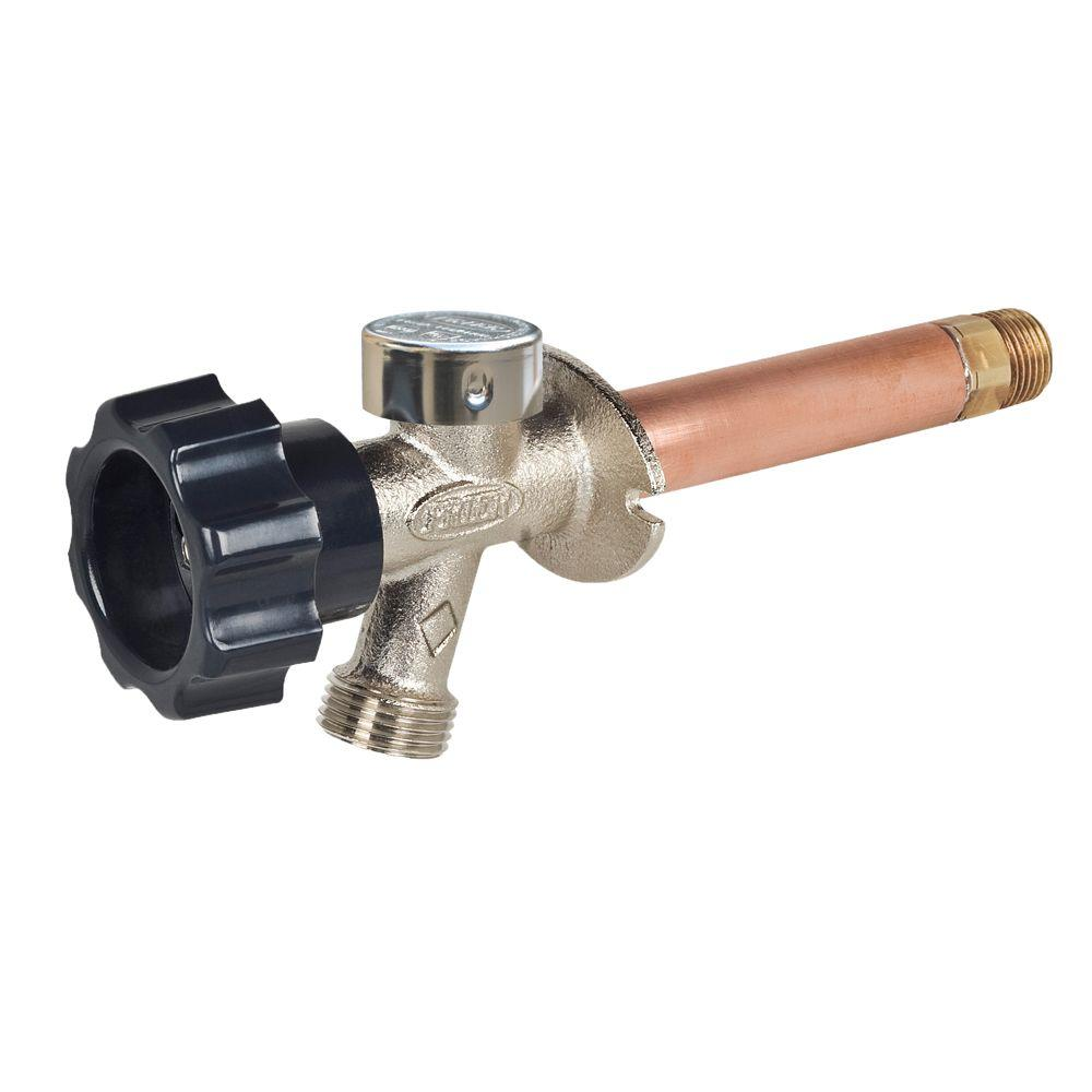 Prier Products 3 4 In X 4 In Brass Mpt X Fip Half Turn Frost Free Anti Siphon Outdoor Faucet Sillcock In 2020 Wall Faucet Faucet Faucet Valves