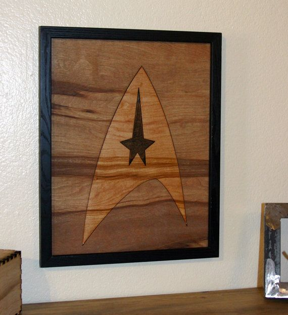 Star Trek Wall Art Stained And Painted Wood Wall Print Gift House Warming Father Dad Mom Son Sister Brother Birthday Star Trek Wall Art Art Stained Custom Art