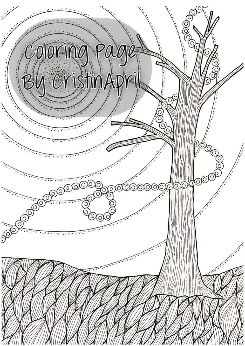 Printable coloring pages etsy - Printable Coloring Page Tree Breeze Digital Download By Cristinapril On Etsy Https