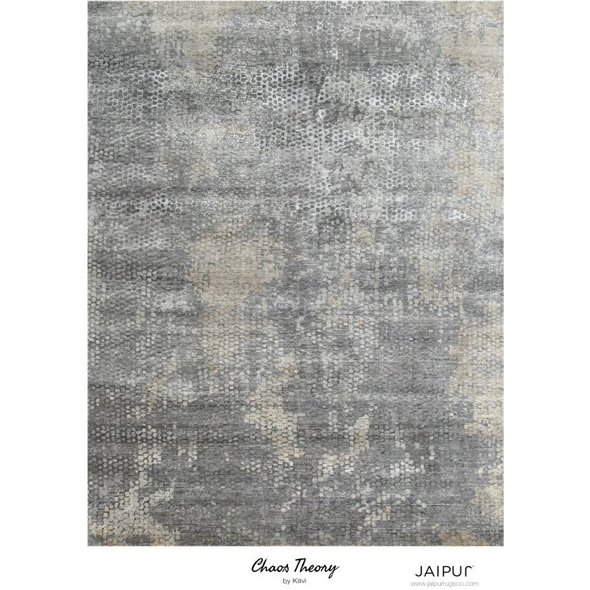 Jaipur Hand Knotted Ashwood/Medium Gray Contemporary Pattern Rug (4' X 6') (4X6), Brown, Size 4' x 6' (Viscose, Abstract)