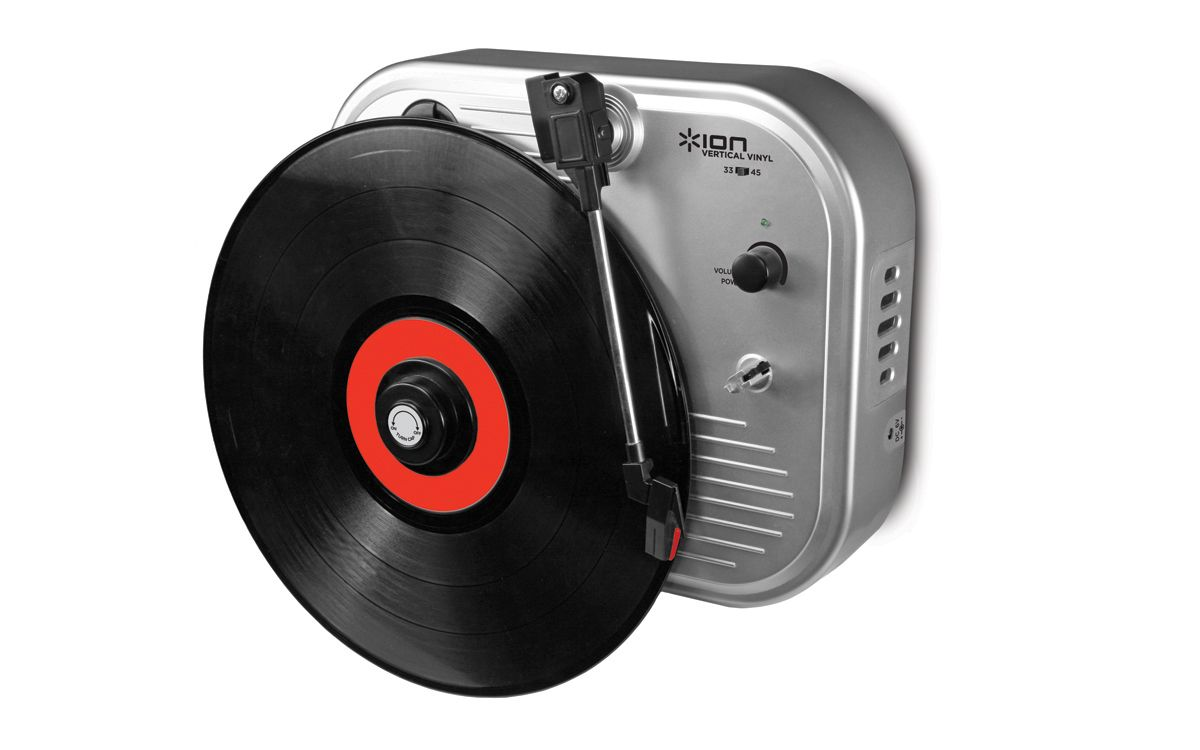 Vertical Vinyl: Wall-Mounted Vinyl Turntable    An awesome looking wall mounted record player!