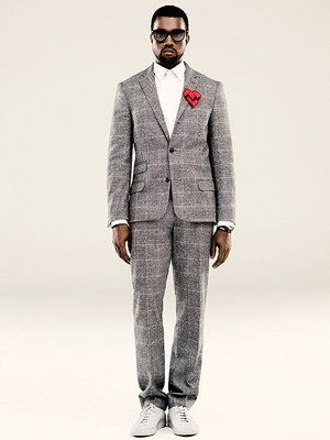 Kanye Rockin A Suit With Fly Kicks Kane Vest Muzhskoj Stil Stil