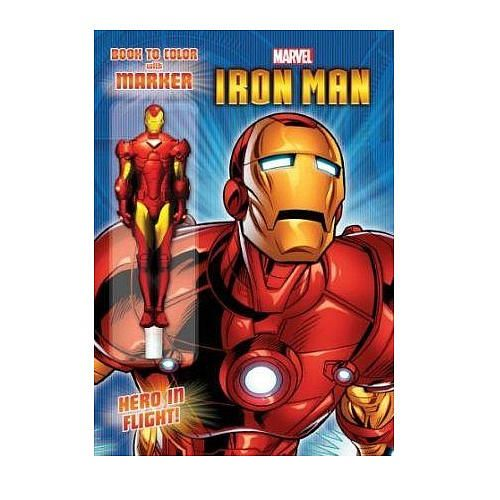Iron Man Coloring Book With Marker
