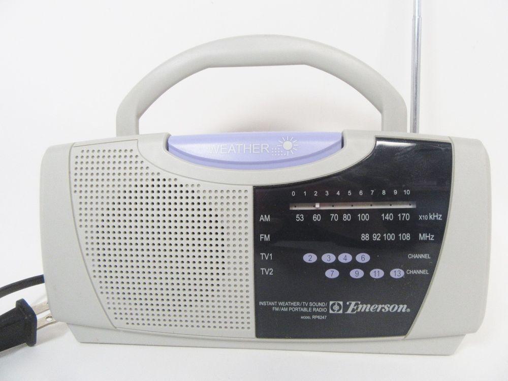 Emerson Instant Weather / TV Sound / FM /AM Portable Radio