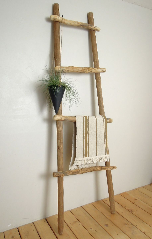 echelle decorative bois hauteur 170 cm