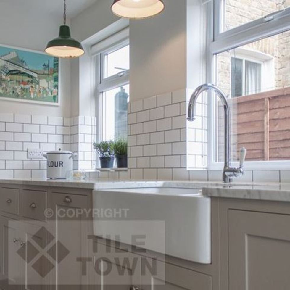 Radbourne White Kitchen Wall Tiles by CVA (tile factory) supplied by ...