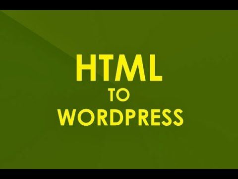 Is it essential to replace a link in html to WordPress conversion?