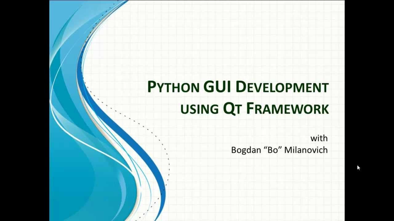 Python gui development with qt introduction video 1 python python gui development with qt introduction video 1 baditri Images