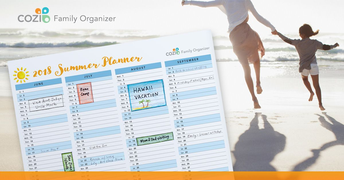 2018 Summer Planners are here! Now available in Cozi Family