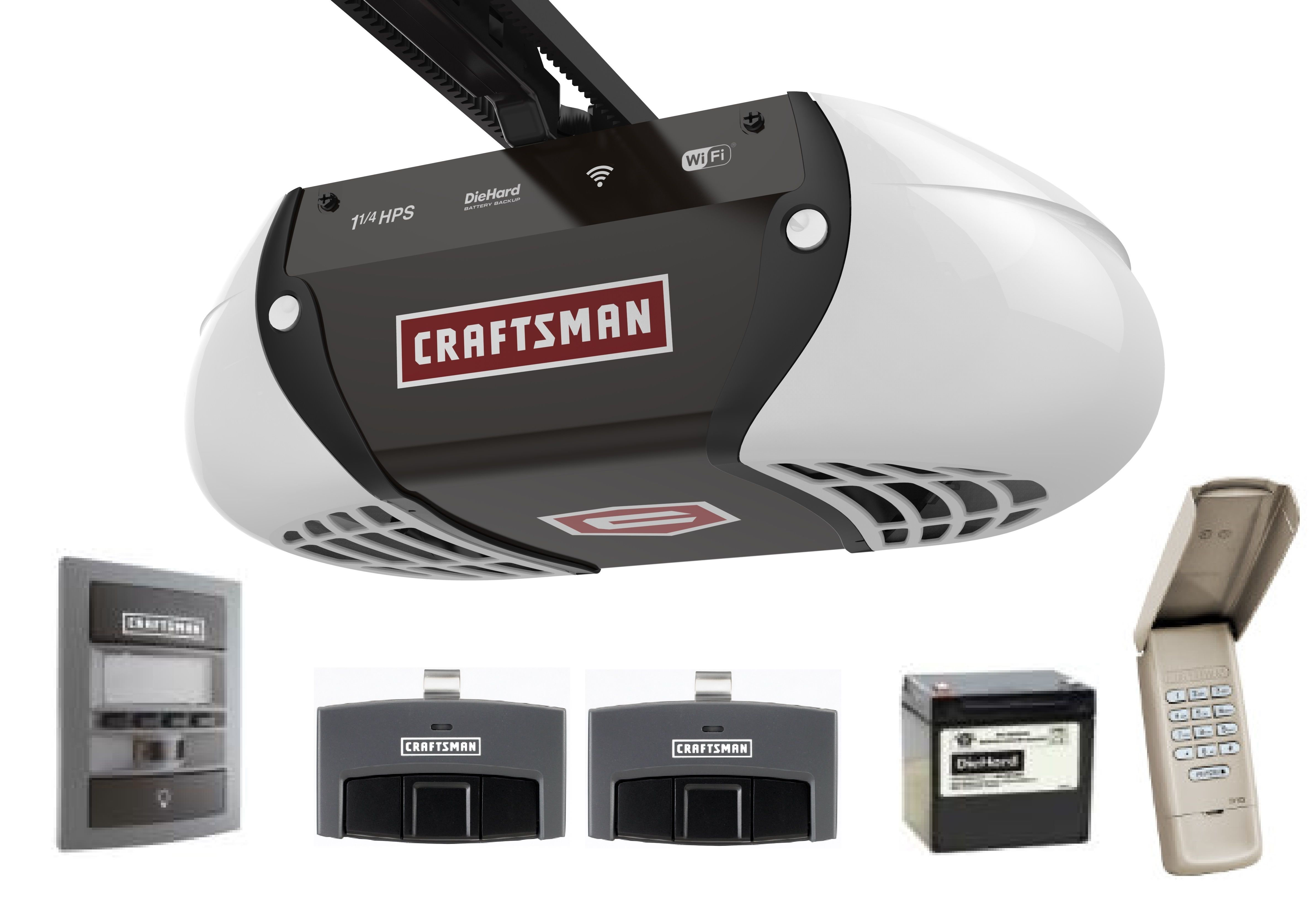 Craftsman 1 25 Hp Belt Drive Smart Garage Door Opener Smart