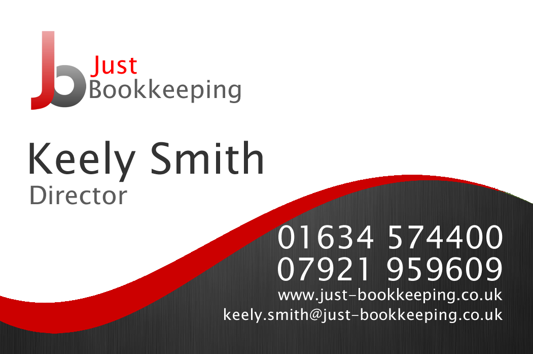 Just Bookkeeping Business Card Design | Professional organizer ...