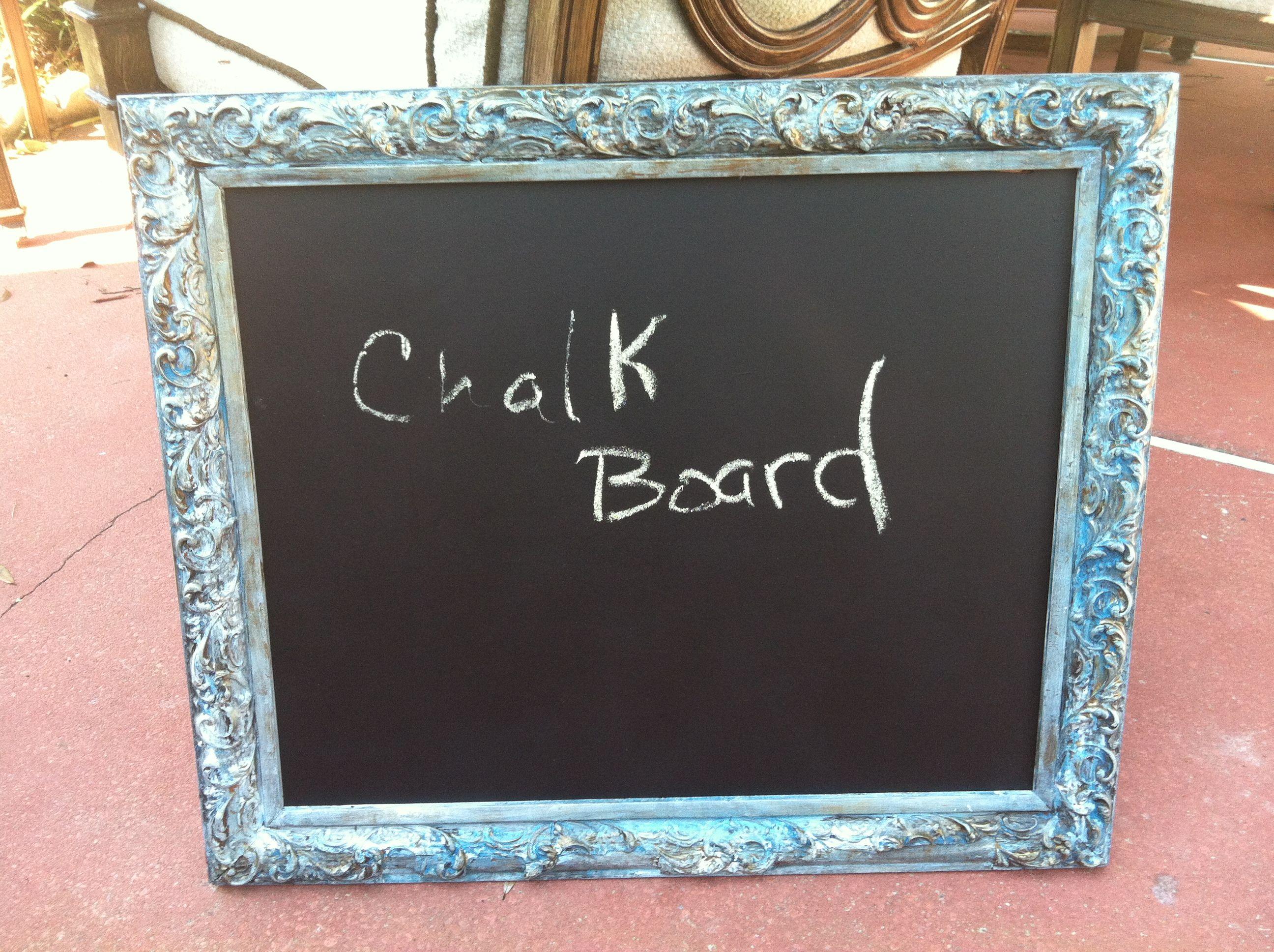 Vintage Frame With Chalk Board