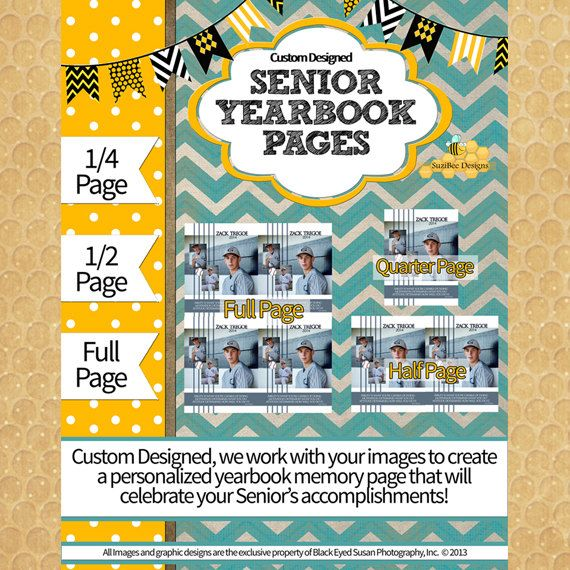 Custom Designed Yearbook Ad - Full, Half or Quarter Page Ads ...