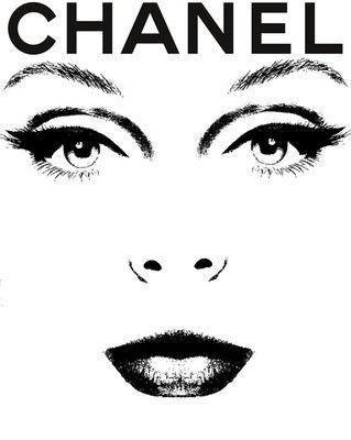 miss coco black and white women fashion magazine print//poster