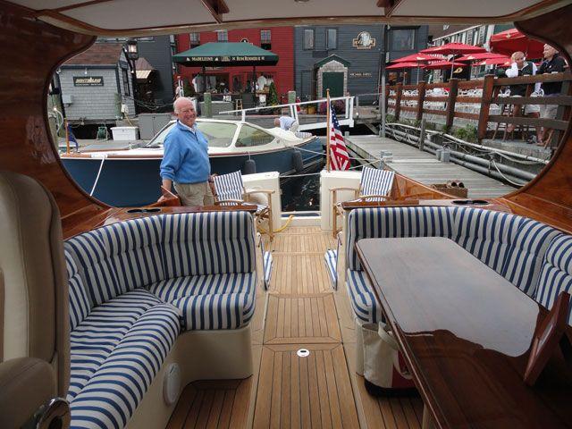 hinckley yacht cushions by ocean tailors cape cod ma yacht