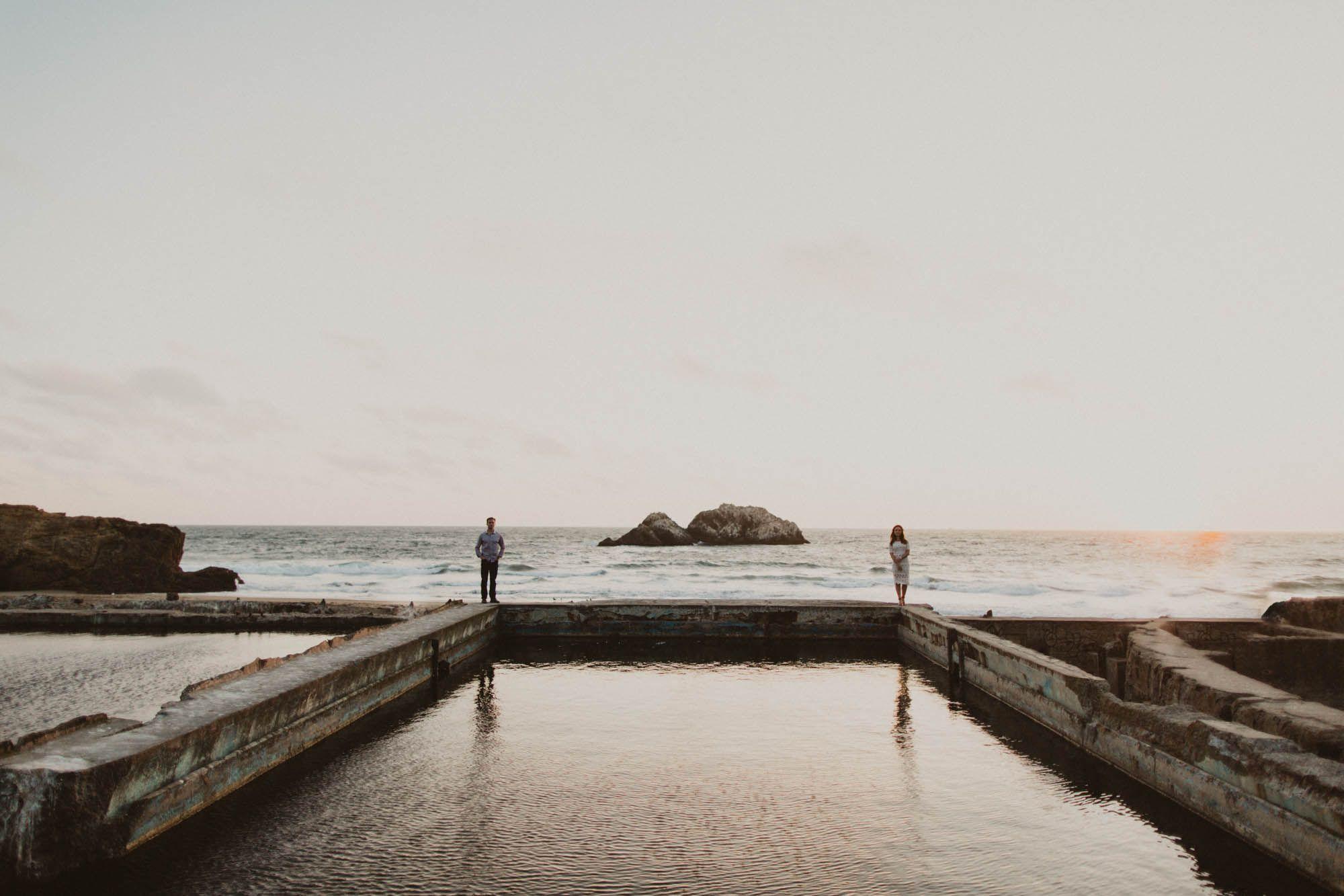 Andrew and Danielle Wanderlust Co San Francisco Sutro Baths