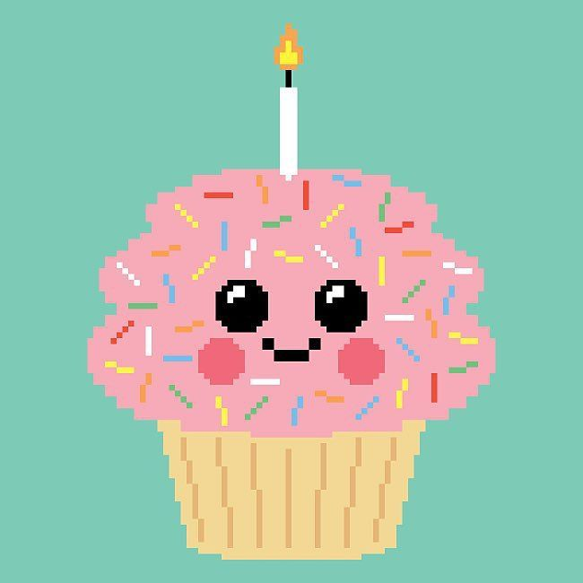 Happy pixel cupcake time! #pixelart #illustration #cupcakes by moukikbutt