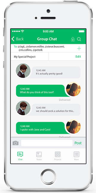 Chatt iOS Template in Swift Chat app, Templates, Mobile app