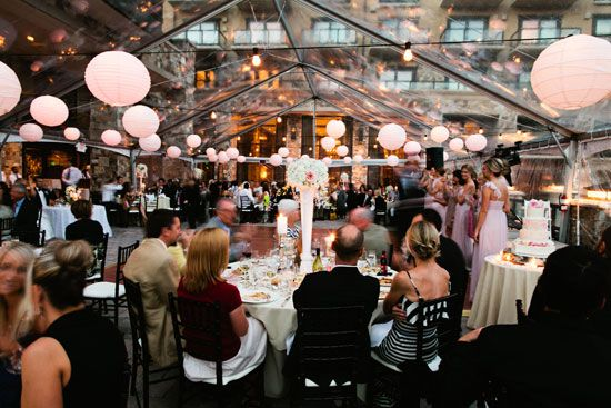 St Regis Deer Valley Utah Blush Wedding Clear Tent With Paper Lanterns Joey