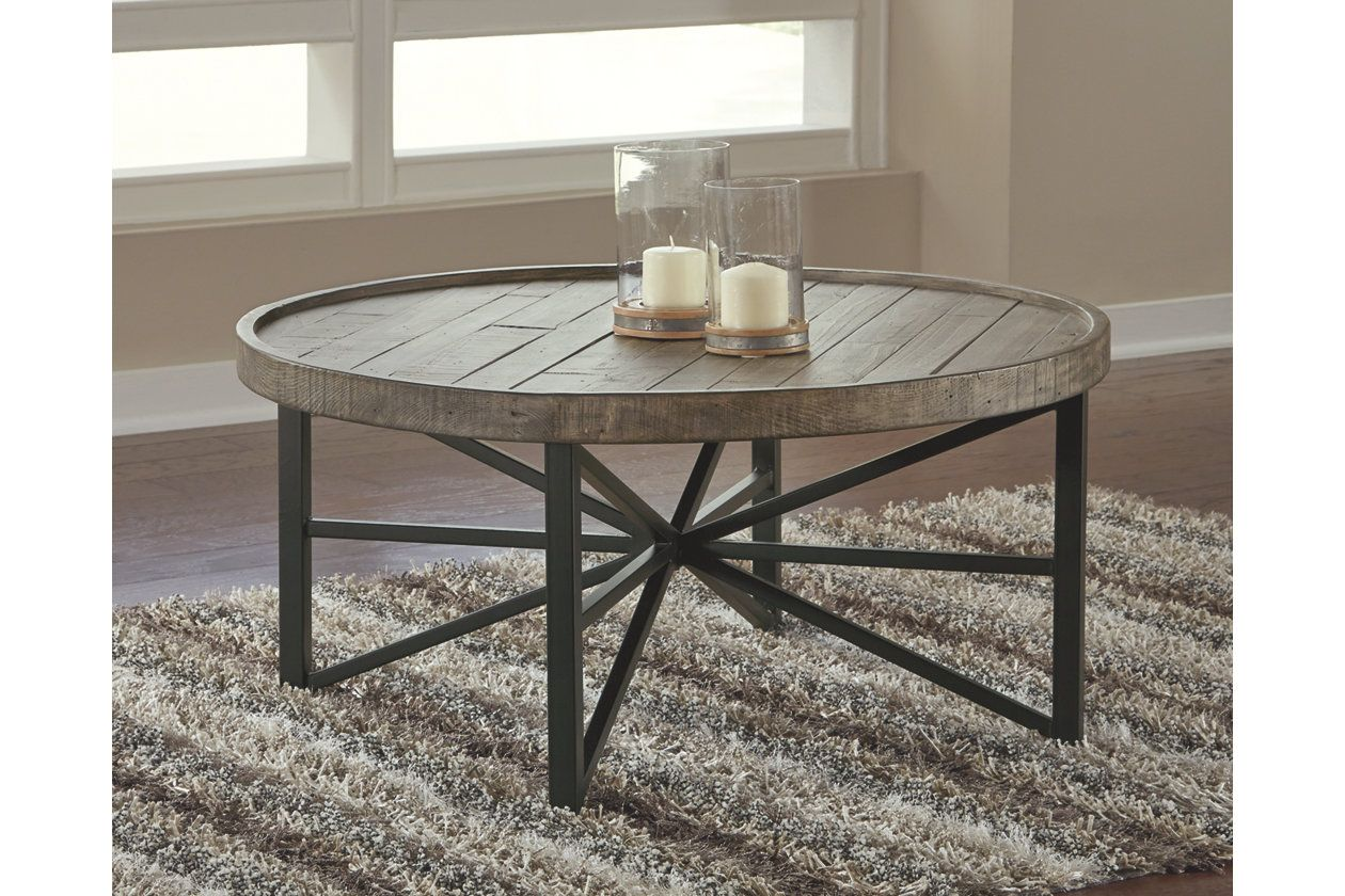 Cazentine Coffee Table Coffee Table Ottoman Coffee Table