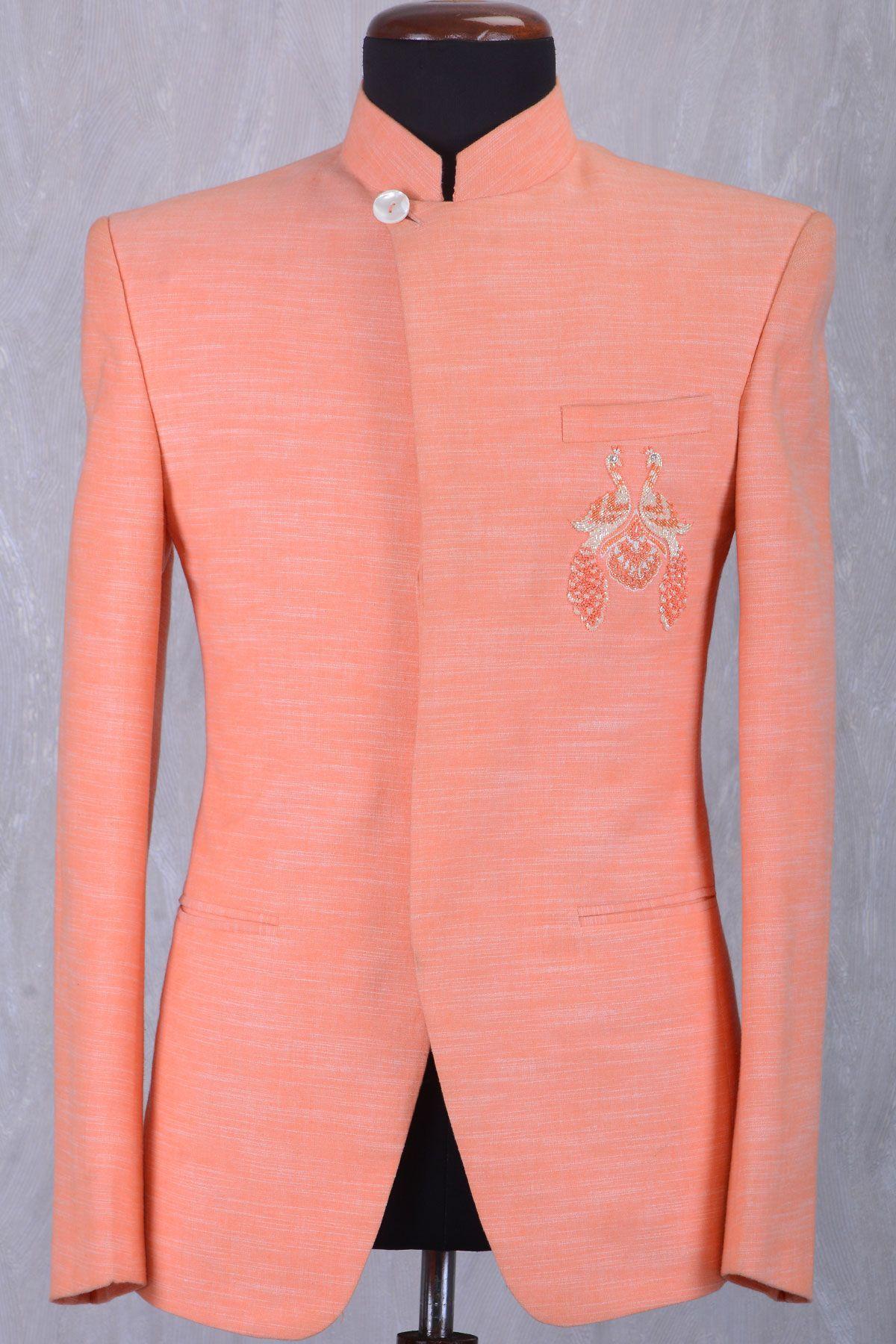 c13228f66a ... Online Samyakk Bangalore. Orange & Off White Stone Embroidered Jodhpuri  Suit-ST745
