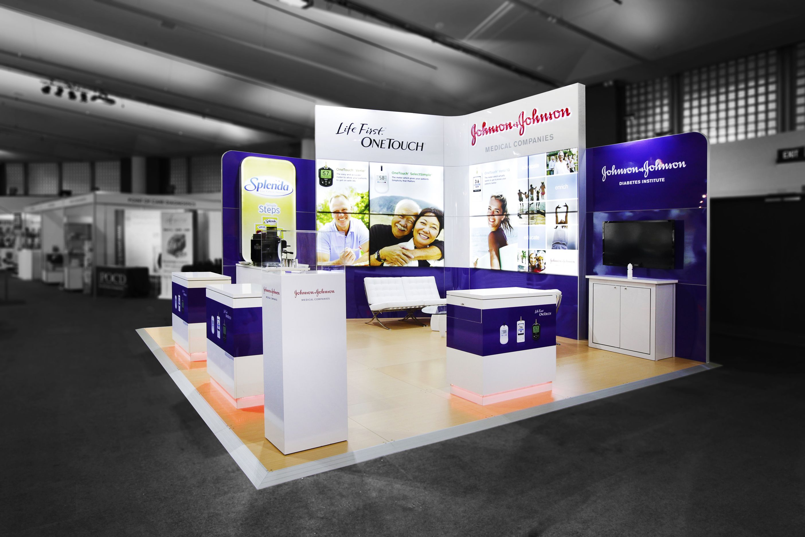 Exhibition Stand Medical : Johnson exhibition stand designed and