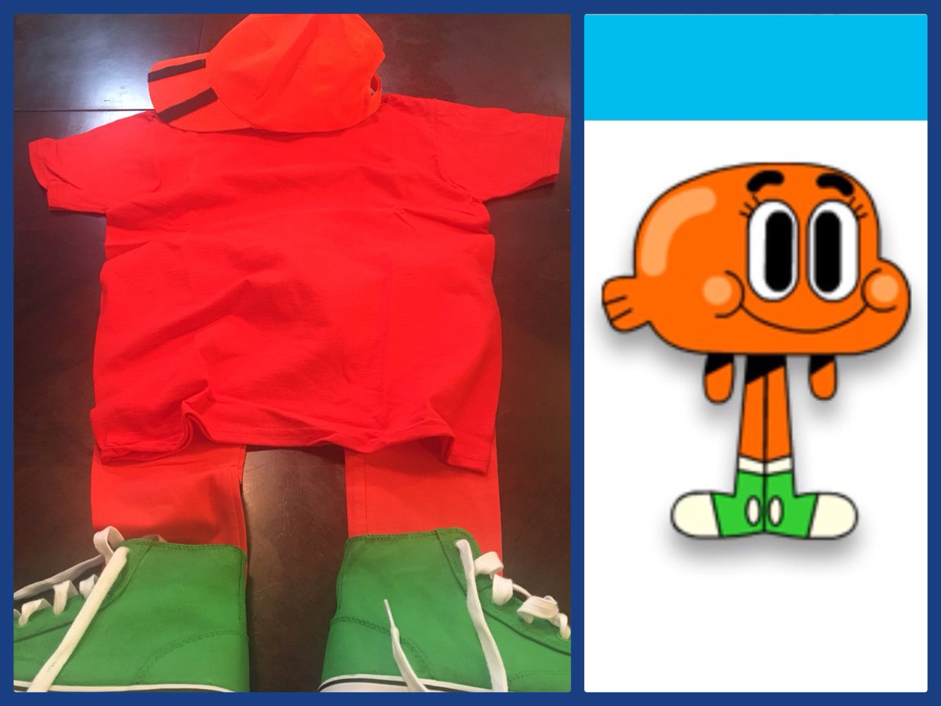 DIY Darwin Watterson costume from the Amazing World of Gumball... just add some drawn on black eyebrows and youu0027re good to go! & DIY Darwin Watterson costume from the Amazing World of Gumball ...