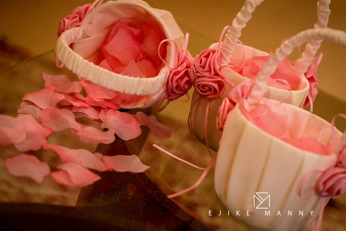 Beautiful Wedding details flower basket