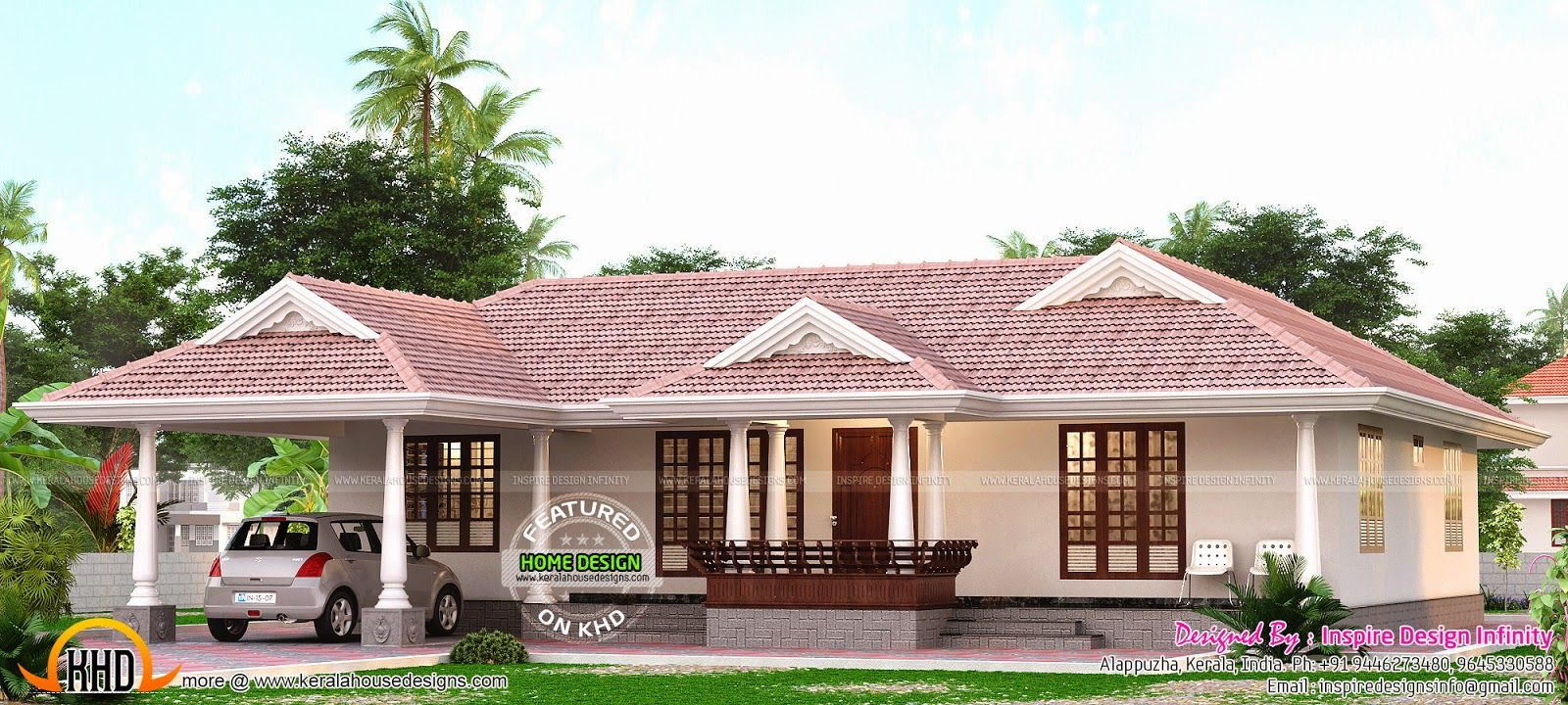 Kerala Model Single Storied Home Kerala House Design Single Floor House Design Kerala Houses