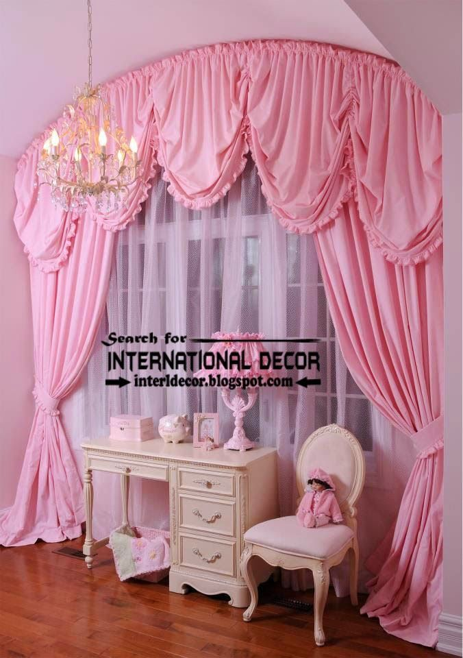 pink curtains shabby chic bedrooms