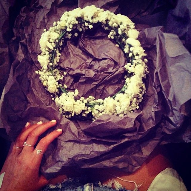 THE perfect Valentines Day present from the best #mivioleta #flowergarland by elle_ferguson