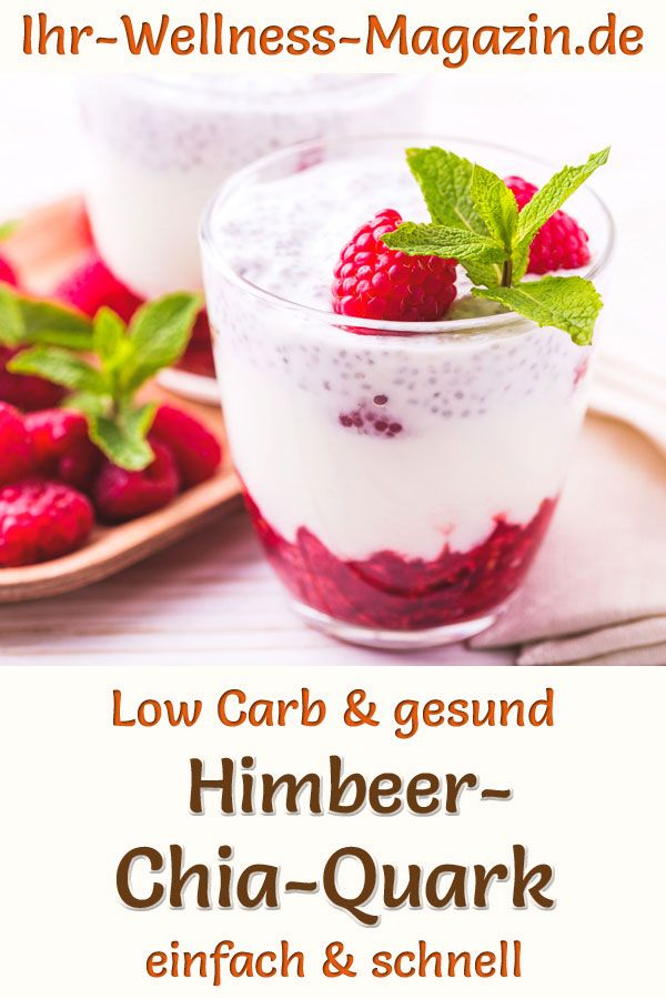 Himbeer-Chia-Quark – Low-Carb-Rezept ohne Zucker – Carey&CleanEatingS