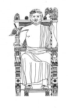 Statue Of Zeus Coloring Page Coloring Pages Mystery Of History