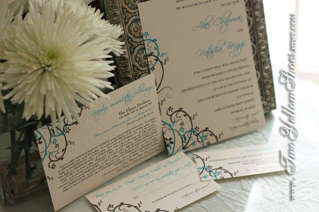 Digital Scroll Invitation Template Package by TwoYellowShoes 6500