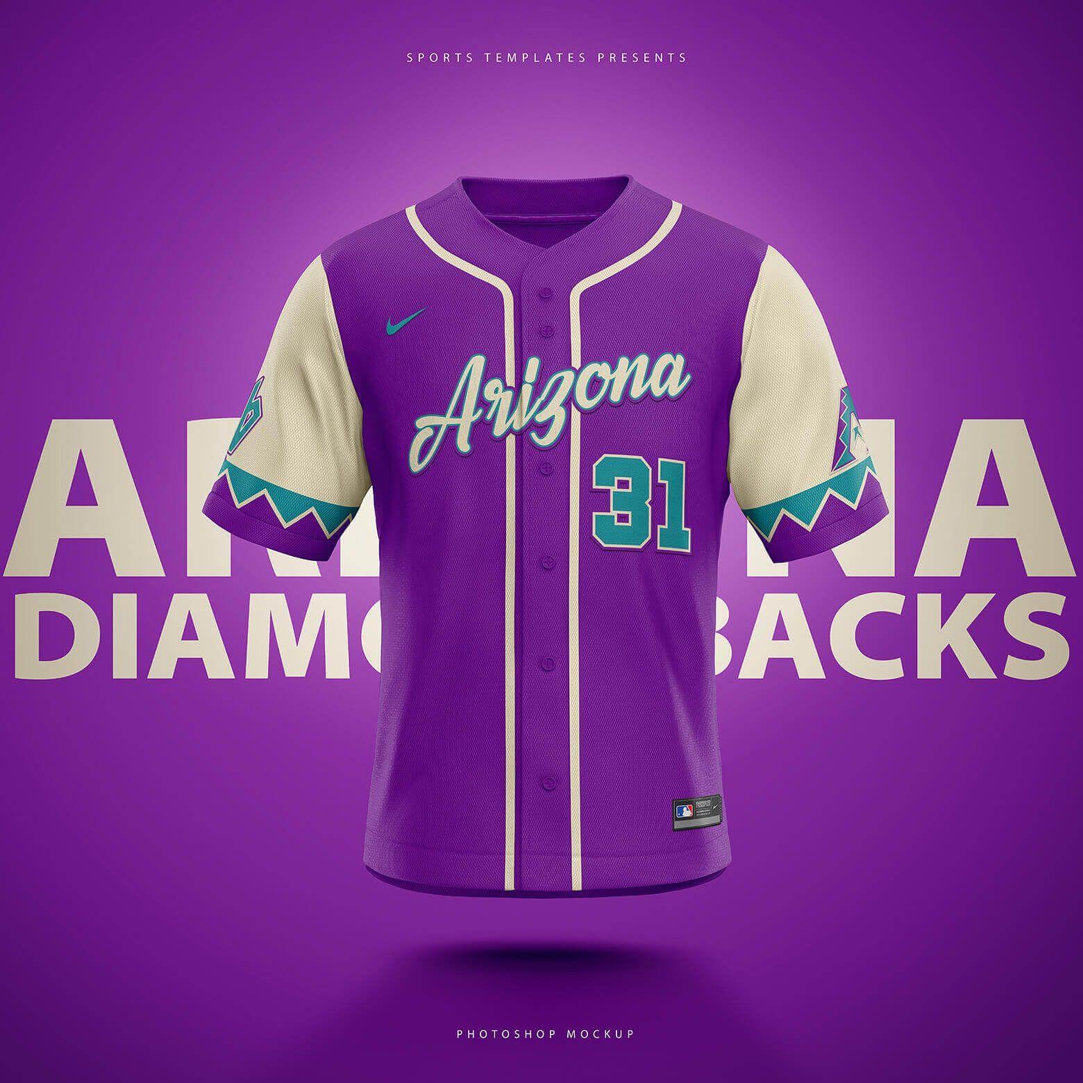 Download Baseball Jersey Template Baseball Jerseys Jersey Arizona Diamondbacks Baseball