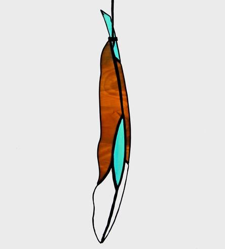 Diamondeye Stained Glass Feather by Colin Adrian Glass on Scoutmob Shoppe