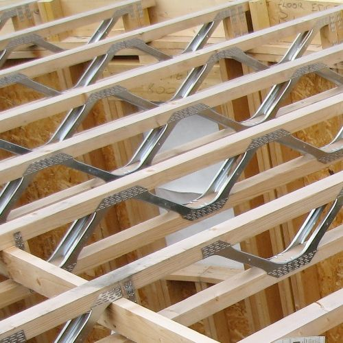 Metal open web joist terra nova trusses detalles for Open web trusses