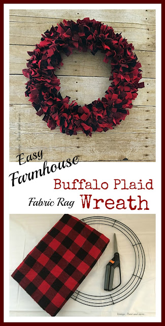 Photo of Easy Christmas Rag Wreath