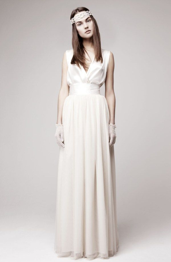 A unique vintage wedding gown with simple design. | Wedding Dresses ...