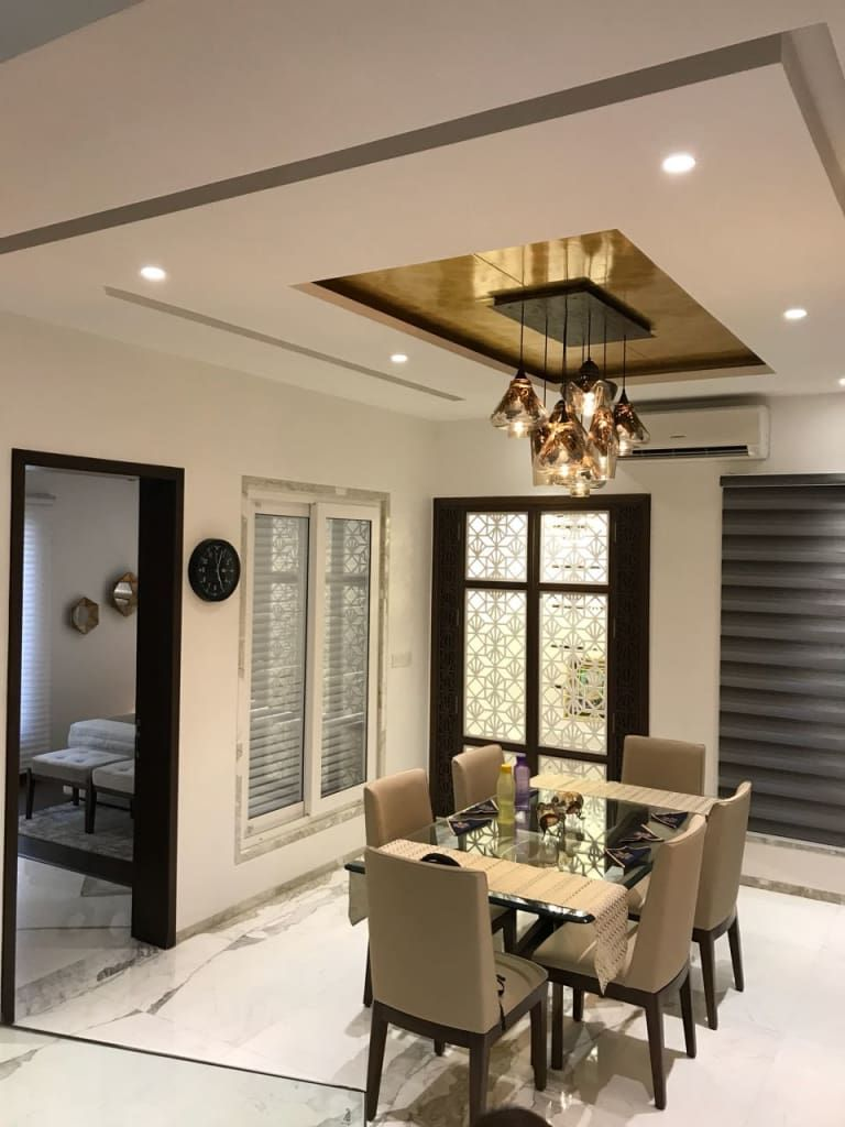 Down Ceiling Designs For Drawing Room: Dining Area : Modern By Hm Designz,modern