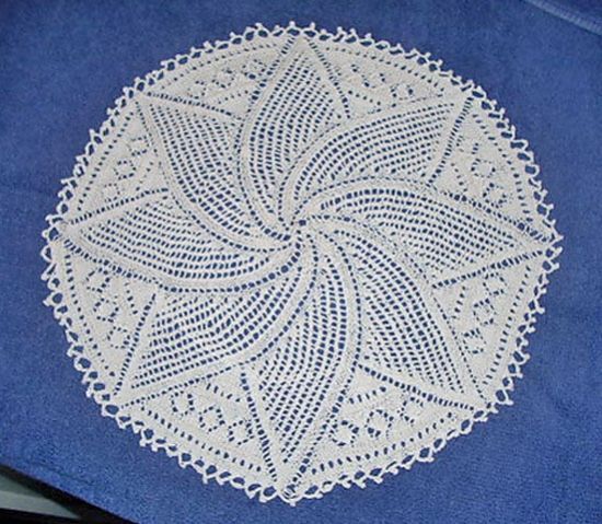 Swirl leaf doily - free knitting pattern | Lace knitting ...