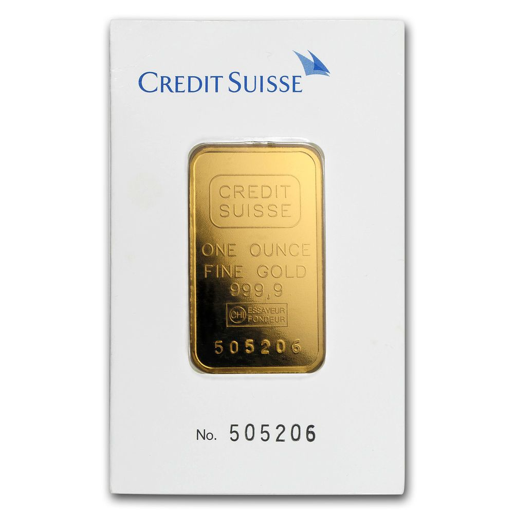 1 Oz Gold Bar Credit Suisse Classic Assay Sku 166440 Ebay Credit Suisse Gold Bars For Sale Gold Bar