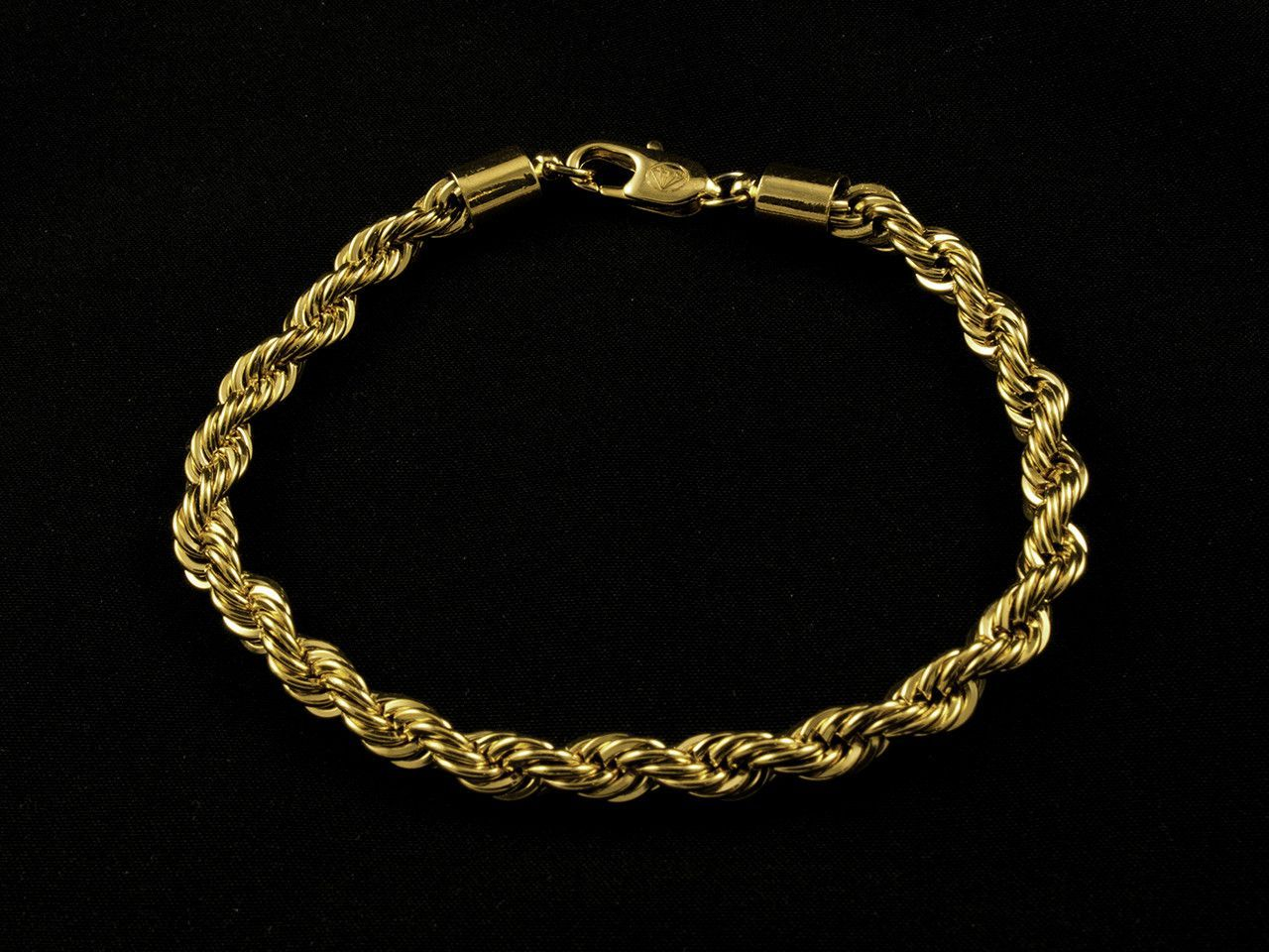 Mm gold rope bracelet gold bracelets pinterest products